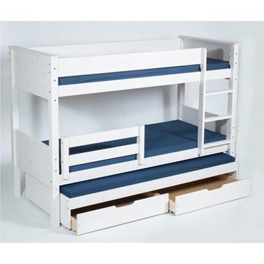מיטות: מיטת קומותיים מעץ מלא + מיטה נגררת דגם יעל