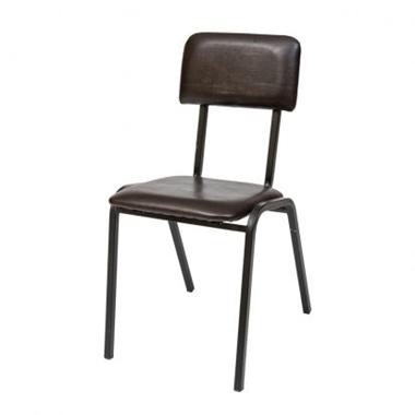 כסאות: כסא מתכת דגם  תלמיד מרופד