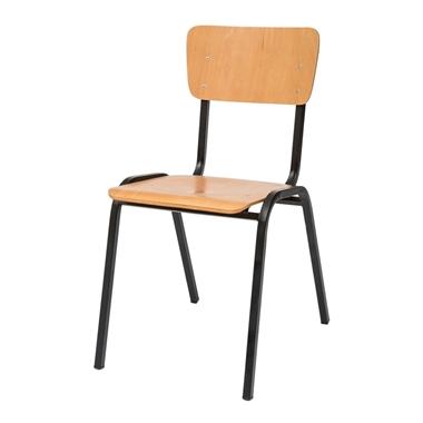 תמונה של כסאות: כסא מתכת דגם  תלמיד עץ פורניר