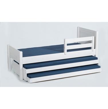מיטות: מיטת גלריה מעץ מלא +2 מיטות נגררות דגם שקד אקסטרה