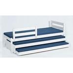 תמונה של מיטות: מיטת גלריה מעץ מלא + 2 מיטות נגררות דגם צבר אקסטרה