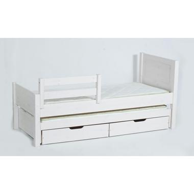 מיטות: מיטת גלריה מעץ מלא + מיטה נגררת דגם רותם