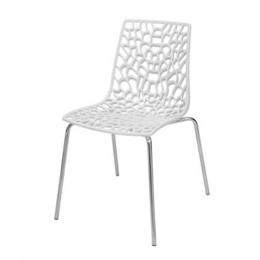 כסאות: כסא מתכת לפינת אוכל דגם דליה רגל מתכת