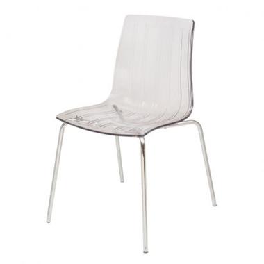 כסאות: כסא מתכת לפינת אוכל דגם סביון רגל מתכת