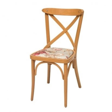 כסאות: כסא עץ לפינת אוכל דגם אלון