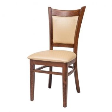 כסאות: כסא עץ לפינת אוכל דגם אשלי ריפוד דק