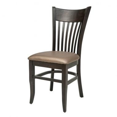 כסאות: כסא עץ לפינת אוכל דגם גל-ים