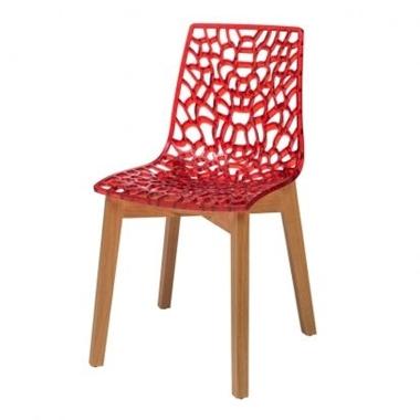 תמונה של כסאות: כסא עץ לפינת אוכל דגם דליה רגל עץ