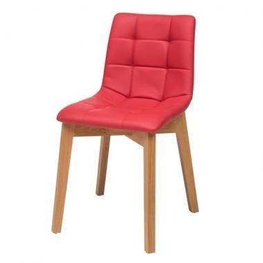 כסאות: כסא עץ לפינת אוכל דגם דניס רגל עץ