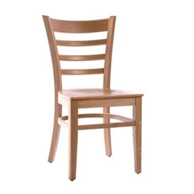 כסאות: כסא עץ לפינת אוכל דגם פרח