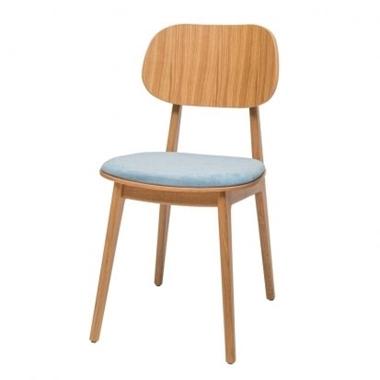 כסאות: כסא עץ לפינת אוכל דגם לוליטה מושב מרופד