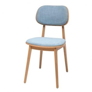 כסאות: כסא עץ לפינת אוכל דגם לוליטה מושב וגב מרופדים