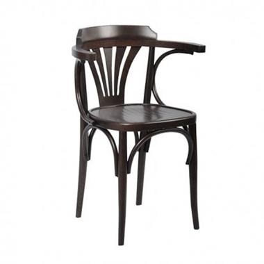 כסאות: כסא עץ לפינת אוכל דגם מיילי עם ידיות