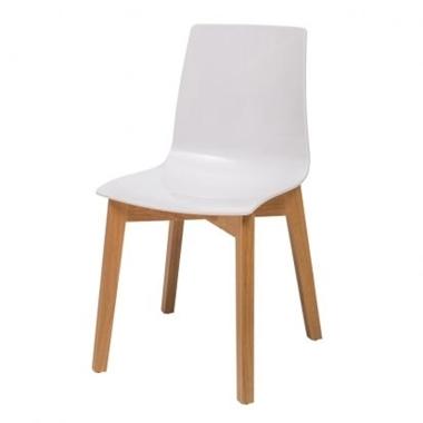 כסאות: כסא עץ לפינת אוכל דגם סביון רגל עץ