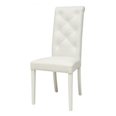 כסאות: כסא עץ לפינת אוכל דגם קייסי לבן