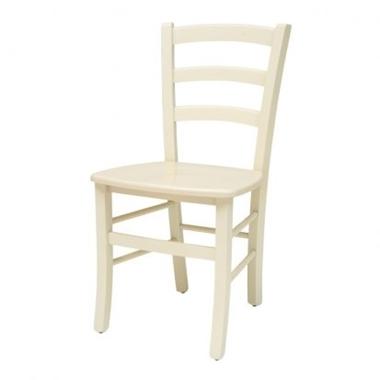 כיסאות: כיסא עץ לפינת אוכל דגם קארין לבן / שמנת