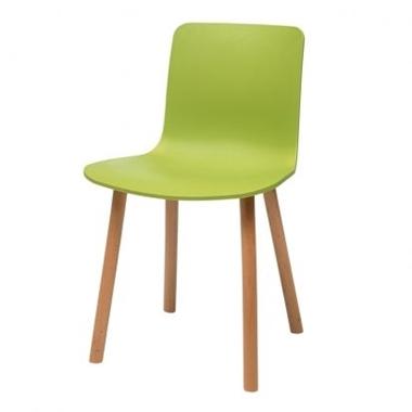 כסאות: כסא עץ לפינת אוכל דגם יוליה מושב פלסטיק