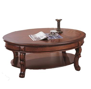מזנונים ושולחנות טלוויזיה: שולחן סלון בעיצוב עתיק דגם בטא אובלי