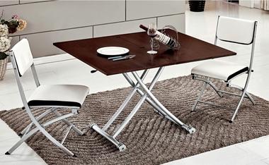 תמונה של פינות אוכל: שולחן פינת אוכל נפתח ומתקפל זכוכית דגם זטא