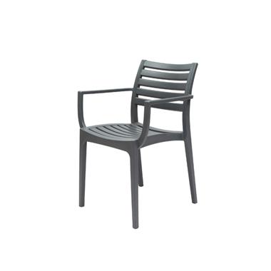 תמונה של כסאות: כסא פלסטיק לפינת אוכל דגם אירה ידיות