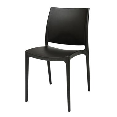 כסאות: כסא פלסטיק לפינת אוכל דגם מיילי