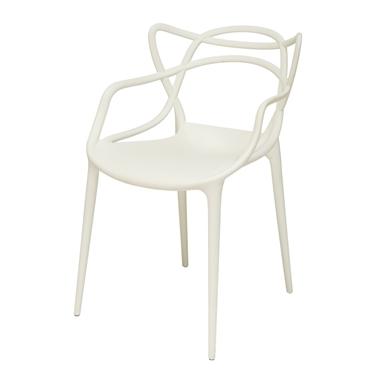 תמונה של כסאות: כסא פלסטיק לפינת אוכל דגם אלברט ידיות