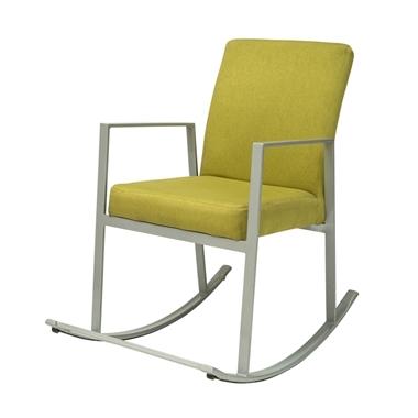 כורסאות : כיסא נדנדה מרופד ממתכת דגם גינס