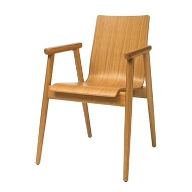 כורסאות: כורסה בעלת מושב עץ דגם מוניקה