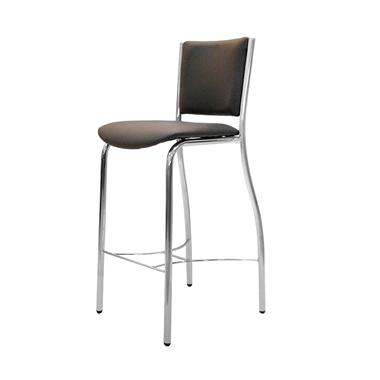 כיסאות: כיסא בר בעל רגלי ניקל דגם עודד