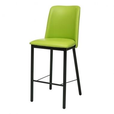 כיסאות: כיסא בר בעל רגלי מתכת שחורה דגם אתי