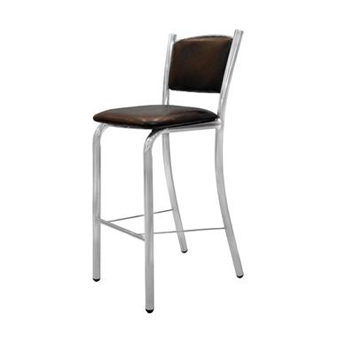 כיסאות: כיסא בר בעל רגלי ניקל דגם בינימין