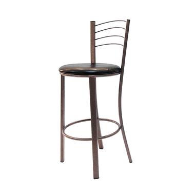 כיסאות: כיסא בר בעל רגלי מתכת ברונזה דגם בוני