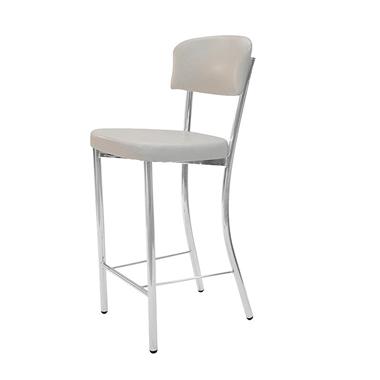 כיסאות: כיסא בר בעל רגלי ניקל דגם גליה