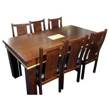 פינת אוכל יוקרתית שולחן + 6 כסאות דגם אמיר