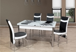 תמונה של פינות אוכל: שולחן פינת אוכל זכוכית +4 כיסאות נפתח דגם שירן