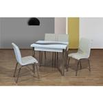 תמונה של פינות אוכל: שולחן פינת אוכל +4 כיסאות נפתח דגם אורלי