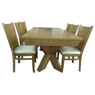 פינת אוכל יוקרתית שולחן + 6 כסאות דגם אליס