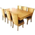 תמונה של פינת אוכל יוקרתית שולחן + 6 כסאות דגם אדין