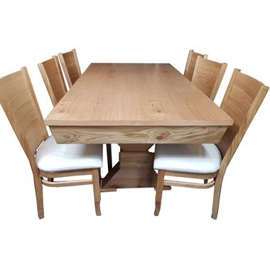 פינת אוכל יוקרתית שולחן + 6 כסאות דגם אדין