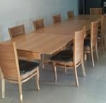 תמונה של פינת אוכל ענקית שולחן + 6 כסאות דגם רינה
