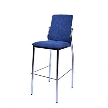 כיסאות: כיסא בר בעל רגלי ניקל דגם סיוון