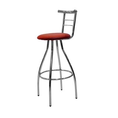 כיסאות: כיסא בר בעל רגלי ניקל דגם ענת