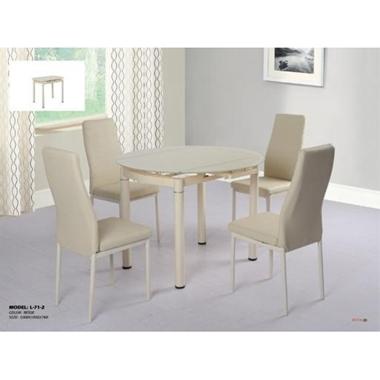 פינות אוכל: שולחן עגול +4 כיסאות דגם מוני