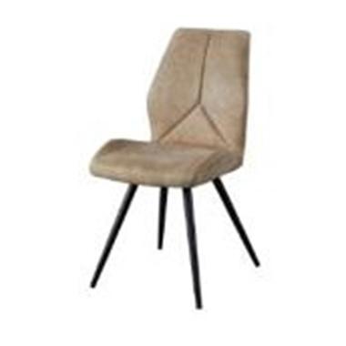 כסאות: כסא מתכת שחורה דגם אדוארד
