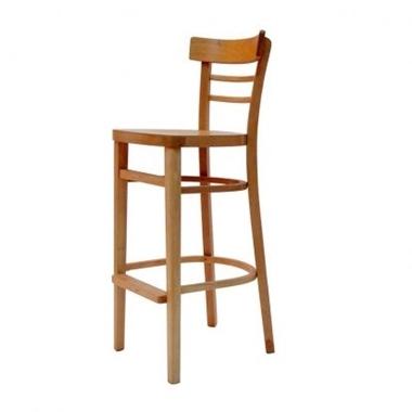 כיסאות בר: כיסא בר עץ ריפוד עבה דגם שרה
