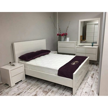 חדרי שינה: חדר שינה זוגי איכותי דגם פול
