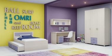 חדר ילדים: חדר ילדים דגם אלמוג