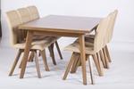 תמונה של פינת אוכל מעולה דגם מגנצא כולל ששה כסאות מרופדים ותואמים