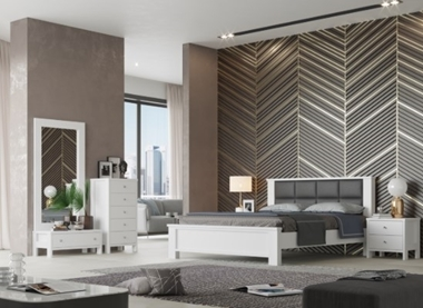 חדר שינה זוגי עתידני דגם אוריגאמי