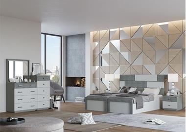תמונה של חדר שינה זוגי בהפרדה יהודית דגם אדלינד